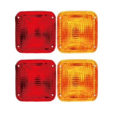 DNY Crystal Stop Lamp Set Lampu Rem ... so - Merah Orange [2