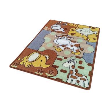 Jupiter JK01BR Animal 2 Karpet Karakter - Coklat [100 cm x 140 cm]