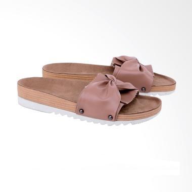 Syaqinah 442 Sandal Casual Wanita - Coklat