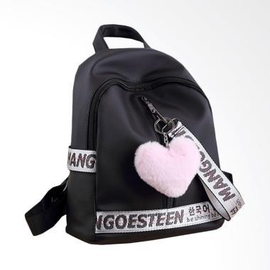 Mangoesteen Darling Backpack - Black + Free Pompom Korea