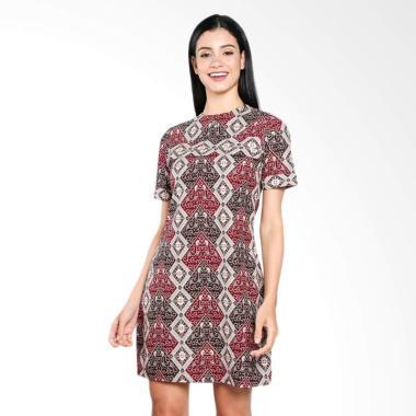 Wajik Modern Dress Batik Merah
