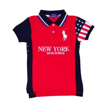 POLO RALPH LAUREN Classic Fit Polo  ...  Red Navy - W66A2AEN3CC -