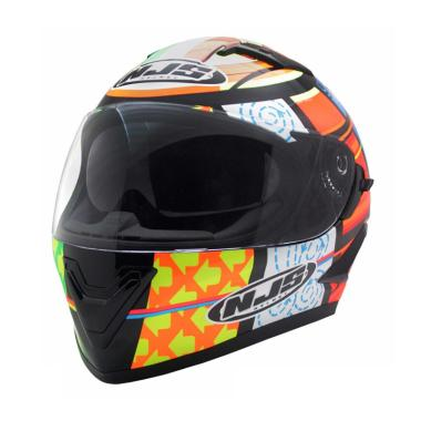 NJS VR 802 Shadow Double Visor Helm Fullface- Multicolor Doff