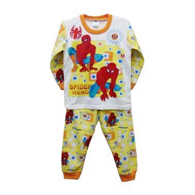 STB Kids Motif Spiderman Setelan Baju Tidur Anak Laki Laki - Yellow