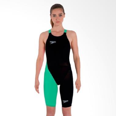 Speedo LZR Elite 2 Pakaian Renang Wanita - Black Green