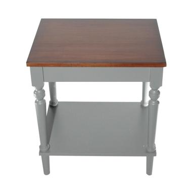 Infinia Home Knock Down End Table - Grey