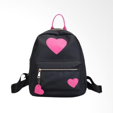 Lansdeal Fashion Backpack Women Leisure Travel Tas Wanita - Hot Pink