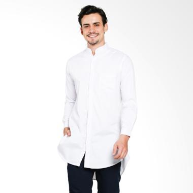 VM Panjang Pakistan Baju Koko Muslim Pria - Putih