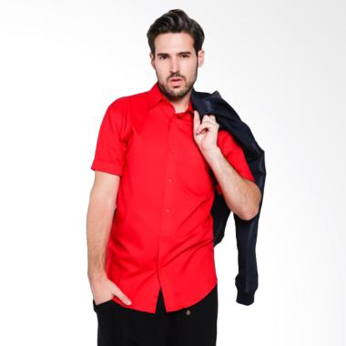 Papercut Men Fox Basic Shirt Kemeja Lengan Pendek Pria - Red