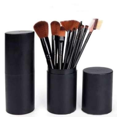harga Dijual Brush Tabung BLACK Hankousi Nankousi - Kuas MakeUp Set 12 pcs Murah Blibli.com