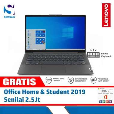 harga Lenovo IdeaPad Slim 5 14ALC05-82LM00EUID Notebook [AMD Ryzen 7-5700U/8GB/512GB SSD/14″/Win 10 Home+OHS 2019] Graphite Grey Blibli.com