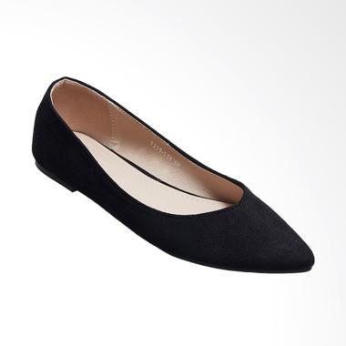 Octav 1219 101 Maureen Bow Flats Sepatu Wanita Black