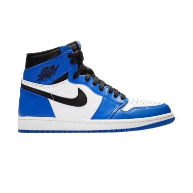 NIKE Men Air Jordan 1 Retro High Ga ... - Blue White [555088-403]
