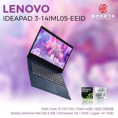 harga Laptop Lenovo Ideapad 3 14IMLO5 EEID Core i3 Gen 10 Ram 4 GB SSD 512 GB NVIDIA GeForce 2 GB New Garansi Resmi Resmi Blibli.com