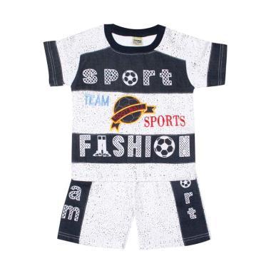 TOMPEGE TP-5617 Oblong Jeans Setelan Pakaian Anak Laki-Laki - Navy