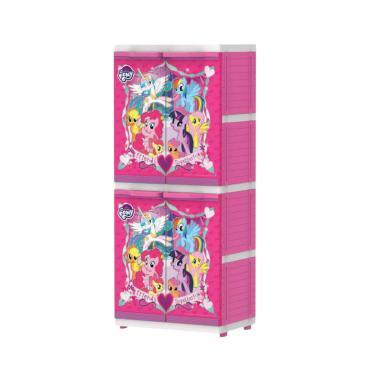 Naiba MSC  Little Ponny Printing Plastik Lemari Pakaian Anak
