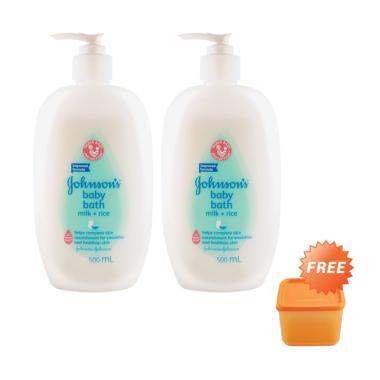 Johnson's Baby Bath Milk+Rice Pump 500ml - 2 pcs [Free Tupperware]