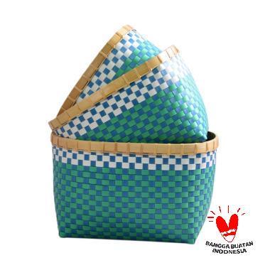Nine Square Strappingband Basket-S Keranjang