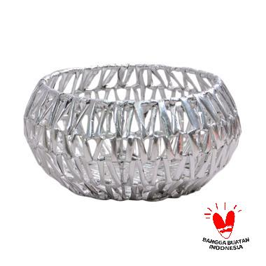 Nine Square Ciky Fruit Basket - Silver