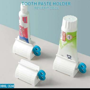 harga Promo dispenser odol tempat pasta gigi unik stand holder penjepit roll tube Berkualitas Blibli.com