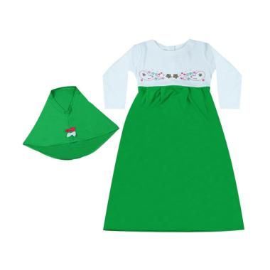 MacBear MacBee Kids Shakila Muslimah Baju Anak Gamis - Green