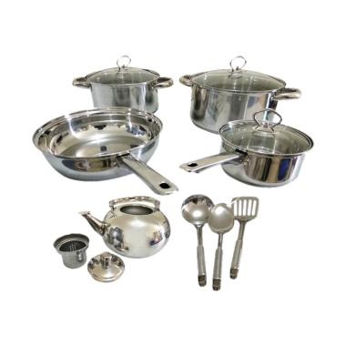Happy Call Panci Set Stainless [13 pcs]