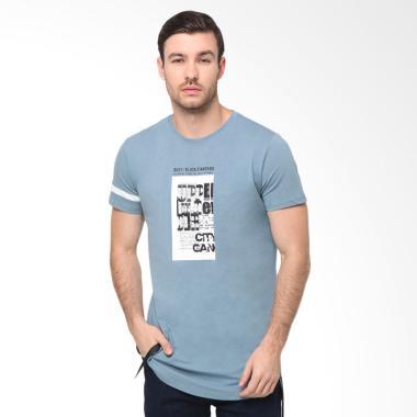 RBJ Obl T-Shirt Pria - Biru [25676003]