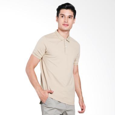 Giordano Solid Polo Shirt Pria - Beige [0101725307]