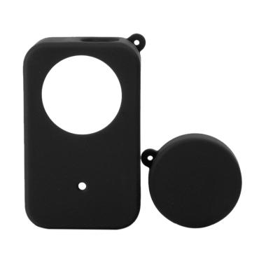 Godric Silicone Casing  with Lens C ...  4K Action Camera - Hitam