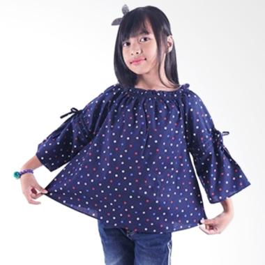 Kids Icon Gather Neck Blouse Baju Anak Perempuan