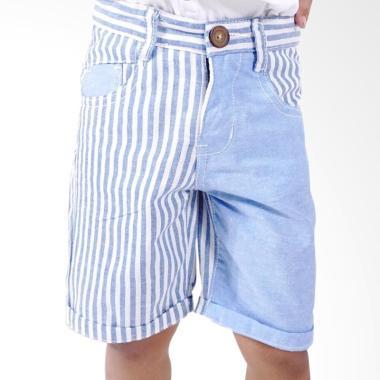 Kids Icon Dyl Stripe Short Pants Celana Anak Laki-laki - Light Blue