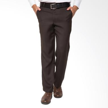Traffic Formal Regular Celana Panjang Pria - Cokelat