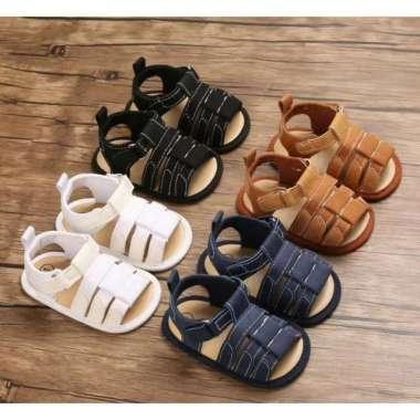 harga Promo Sepatu Anak Laki Sepatu Bayi Prewalker Sepatu Sandal Anak 0-18 bulan - Black 1 Berkualitas Blibli.com