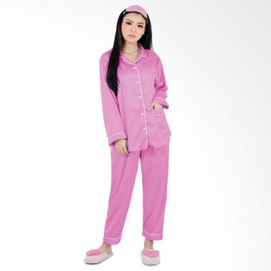 Jfashion PP Silky Setelan Baju Tidur Wanita - Pink