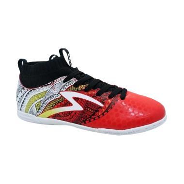 Specs Heritage Heritage Sepatu Futsal - Red Black [400749/ Original]