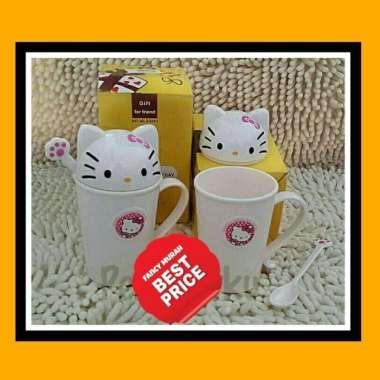 harga Unik BEST PRlCE Mug Gelas Tutup Plus Sendok Melamin Hello Kitty BPA FREE. Diskon Blibli.com