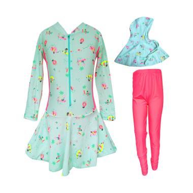 Rainy Collections Motif Pantai Legging Baju Renang Anak Muslim - Pink
