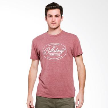 Billabong Club Tees Port Heather T-Shirt Pria  POH0  f3b36154ea