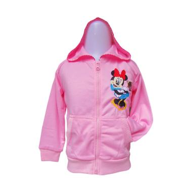 Rainy Collections Karakter Minnie Mouse Jaket Anak - Baby Pink