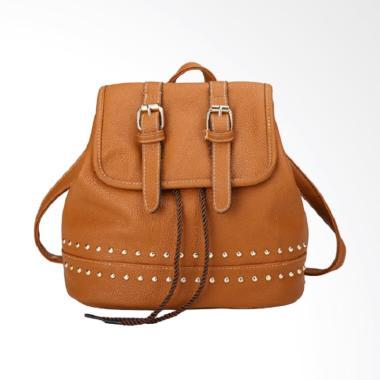 Fashion 0930020569 Knop Backpack Wanita - Light Brown