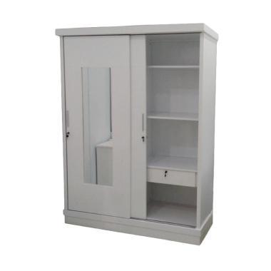 Starmax Lemari Pakaian - Putih [2 Pintu Sliding]