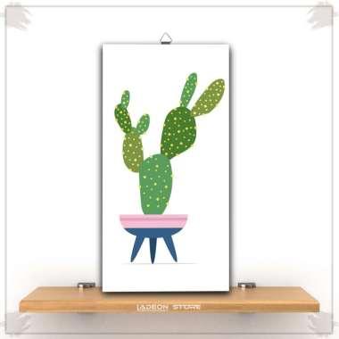harga Ladeon Hiasan Dekorasi Dinding Kamar Rumah Bunga Pot Kaktus Cantik Wall Decor LSH-012 LSH-012D Blibli.com