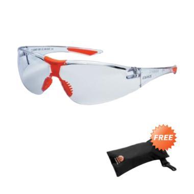 King KY 8811 Kacamata Safety - Clear Putih + Free Kings Nylon Bag