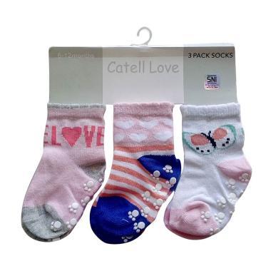 Catell Love Girl Kaos Kaki Bayi - Love Butterfly [3 Pasang]