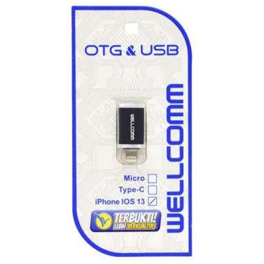 harga OTG USB Support iOS 14.5 dan iPhone 11 12 Series iPhone 5 6 7 iPhone X Series Original Wellcomm red Blibli.com