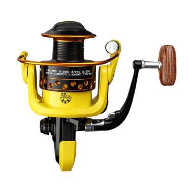Lieyuwang Reel Pancing HD7000 12 Ball Bearing - Black Yellow