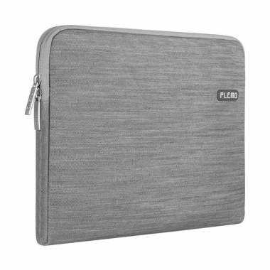Plemo Softcase Gray Denim Canvas Tas Laptop for Macbook 13 Inch