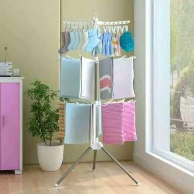 harga Jemuran Baju Menara Gantungan Pakaian Handuk Popok Bayi Multicolor Blibli.com