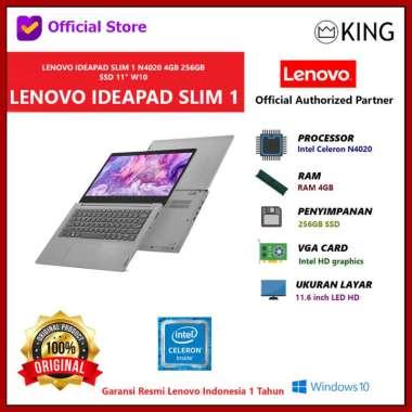 harga LENOVO IDEAPAD SLIM 1 N4020 4GB 256GB SSD 11