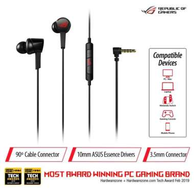 harga RECOMMENDED ASUS ROG CETRA CORE IN-EAR GAMING HEADPHONE Blibli.com